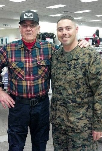 One more, for good measure. R. Lee Ermey and my cousin Geoff.