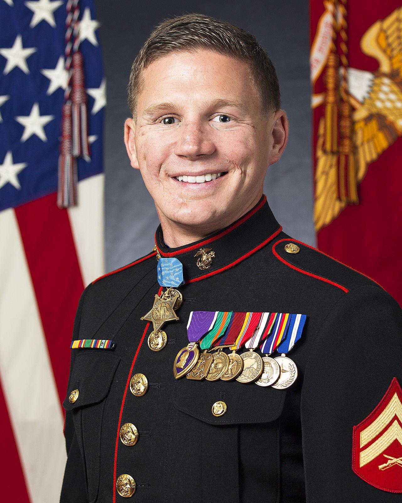 Medal of Honor recipient, Kyle Carpenter.
